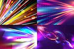 多彩光效元素背景