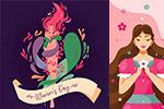 妇女节卡通插画