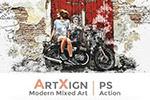 现代混合艺术PS动作