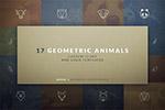 几何动物logo