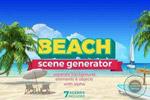 海边度假宣传元素