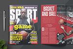 体育赛事杂志模板
