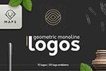 几何风格logo模板