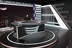 新闻工作室C4D场景