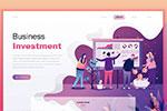 商务购物网页插画