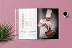 烹饪杂志版式