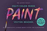 多彩混合油漆AI笔刷