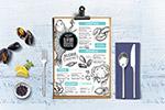海鲜餐厅餐垫菜单