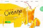 果汁饮料网页模板