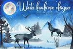 冬季景观剪贴画