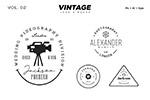 复古风格摄影主题Logo