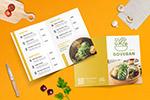餐厅折页菜单模板