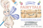 童话水彩素材