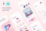 粉色风格社交app模板