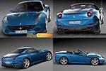 法拉利蓝色跑车C4D模型