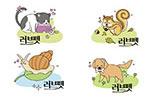 卡通小动物插画