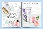 化妆品杂志页面设计