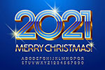 圣诞节新年立体字