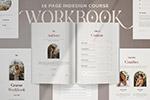 课程工作簿画册模板