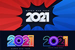 2021年炫彩数字设计