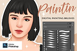3D人物肖像画PS画笔