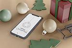 圣诞场景iPhone样机