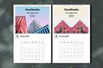 2021年建筑风格日历