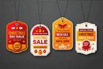 圣诞促销广告质感标签