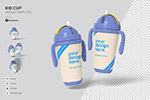 儿童吸水杯包装设计样机