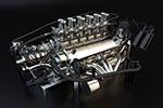 发拉利汽车发动机模型