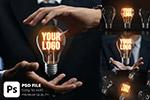 发光灯泡Logo样机
