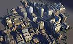 城市配楼模型