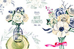 花卉手绘水彩画