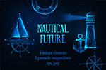 未来派风格航海元素