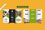 折页样式餐厅菜单