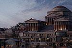 古罗马风游戏城市建筑模型