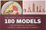 180个C4D单体模型