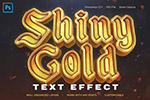 金色3D字体PS样式