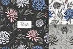 手绘植物花纹背景
