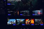 游戏平台网页模板