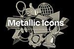 金属质感3D图标