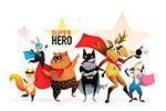 卡通动物超级英雄