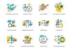 设计开发主题线性图标