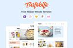 优质食品食谱网站模板