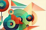 几何图形元素抽象背景