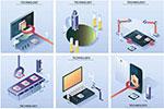 智能工业科技插画