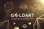 抽象金色3D几何图形
