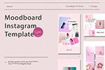 粉色社交媒体情绪板