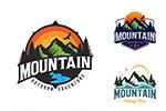 山峰元素手绘标志