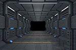 3D科幻走廊模型